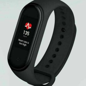 MI Band 4 Smartwatch with heartrate displayed