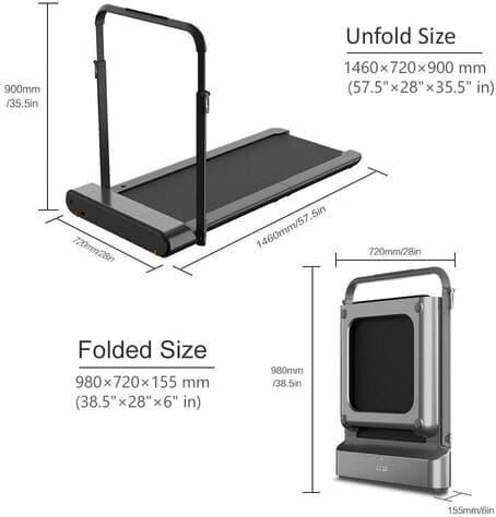 Walkingpad R1 Pro Dimensions