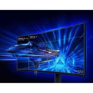 Xiaoimi MI 34 Gaming Monitor with a #D illusional image