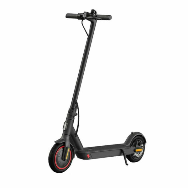 An self standing Electric Scooter with white background