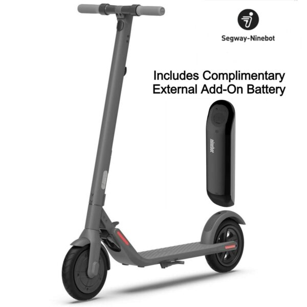 segway ninebot e22 and an external battery with a script includes complimentary external add-on battery