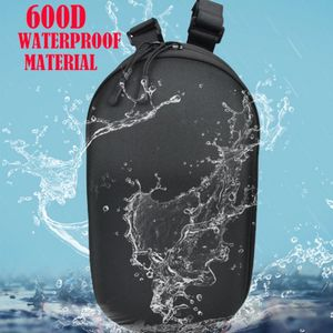 segway ninebot strap bag shown with water splashing over it and a text reading 600d waterproof material