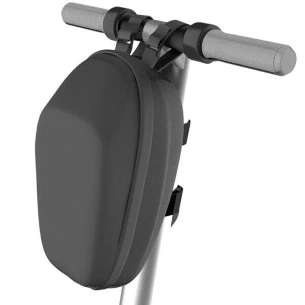 segway ninebot bag shown fixed to a scooter with white background