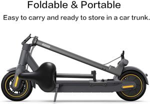 segway ninebot seat attachment with seat and scooter handle folded